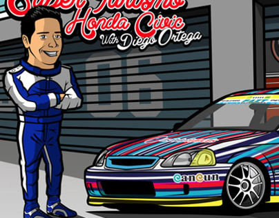 The Drivers 5th Illustration Honda Civic Ek ST