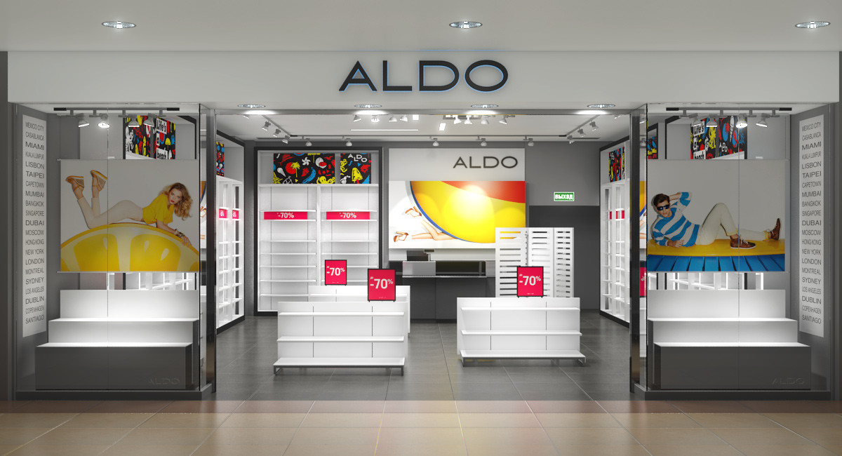Interior visualization of ALDO store