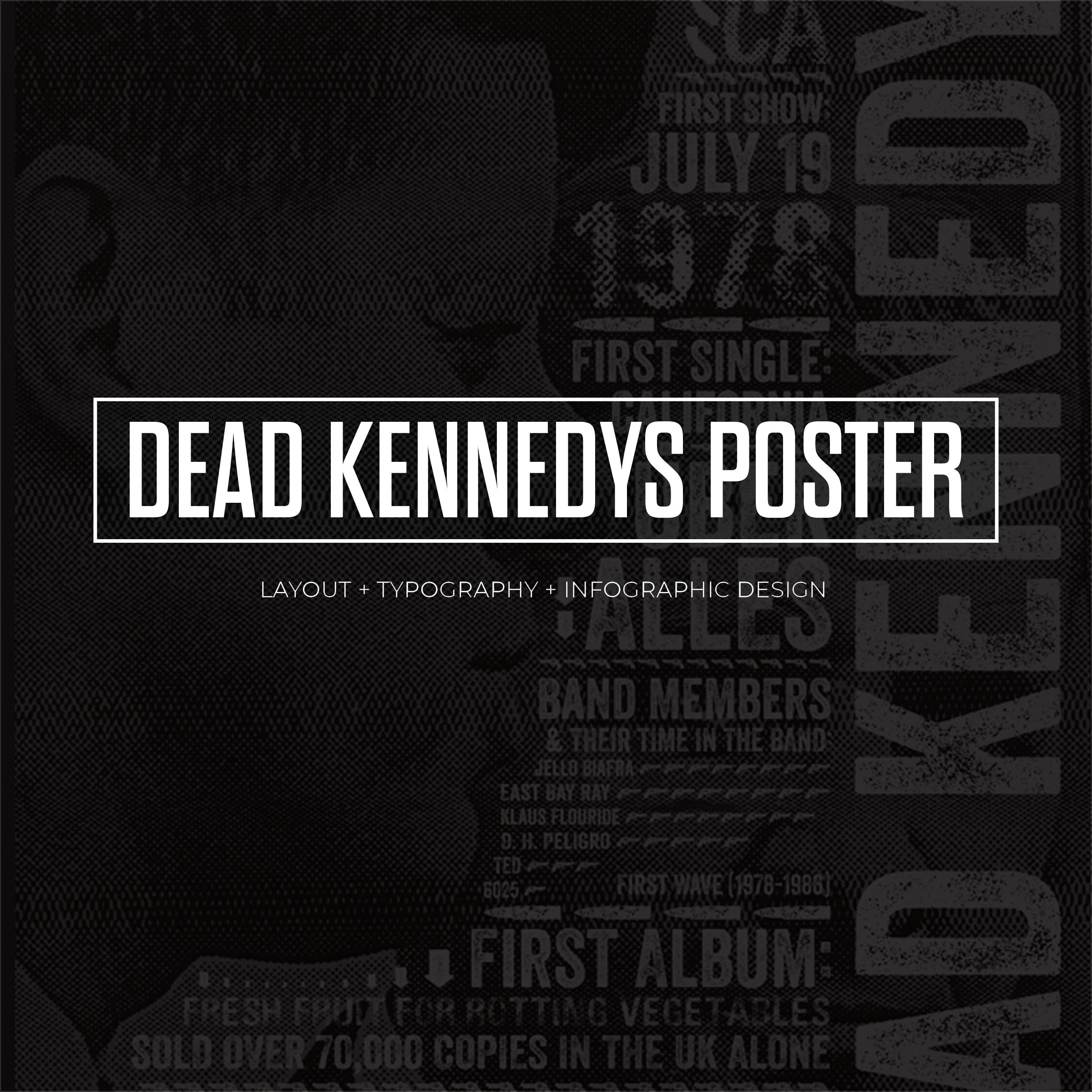 Dead Kennedys Information Graphic Poster