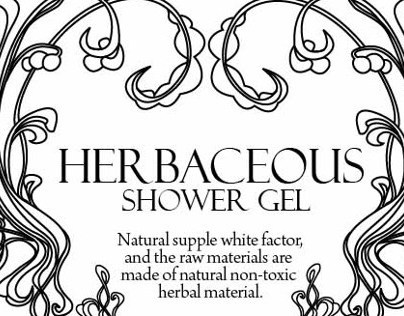 HerBaceous shower gel packaging design