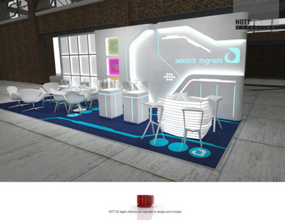 Adcock Ingram - Tron inspired exhibition stand