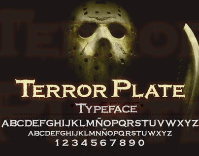 TerrorPlate Typeface