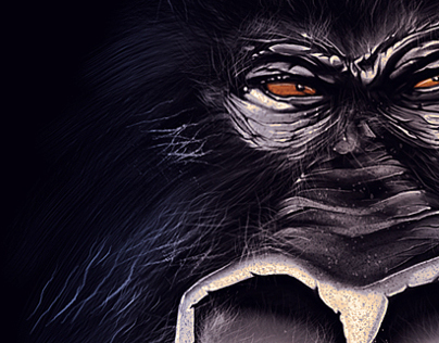 Gorilla digital painting