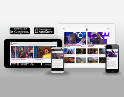 D8.tv / Page Application mobile (DA+intégration)