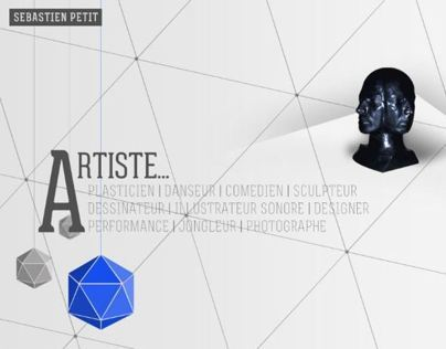 Website for visual artist Sebastien Petit