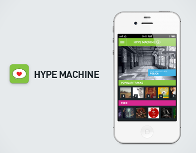 Hype Machine iOS App Redesign