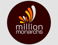Million Monarchs brand identity