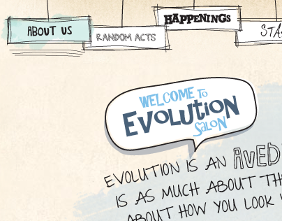 Evolution Salon website '12 redesign