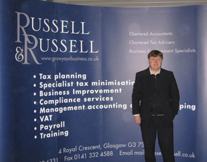 4-by-3 Exhibition Stand, Russell & Russell Accountants