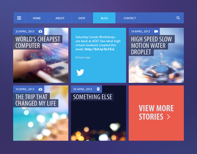 Blog/Magazine Flat UI Kit
