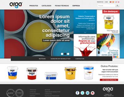 Arga - Website Proposal