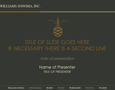 Williams-Sonoma, Inc. Powerpoint Template