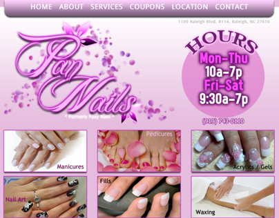 Pan Nails Website