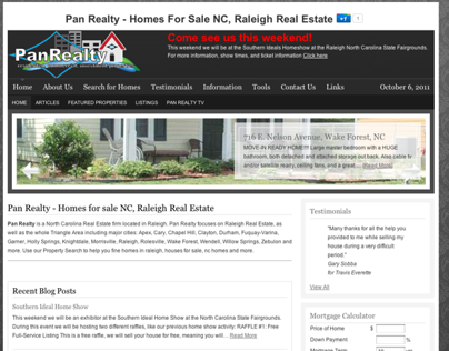 Pan Realty Website