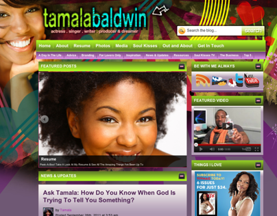 Tamala Baldwin Website