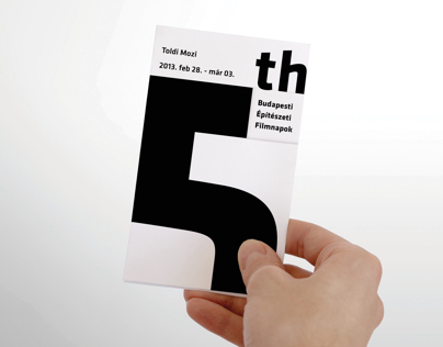 5. Budapest Architecture Film Festival Brochure