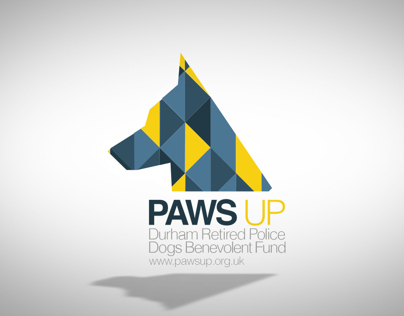 Paws Up - Retired Working Dogs animated logo