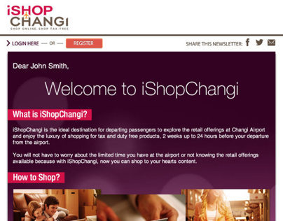 iShopChangi - Welcome Newsletter