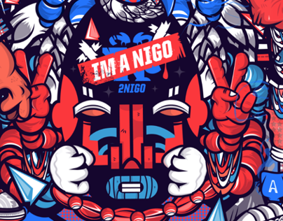 °°2NIGO JUST TWO FINGERS OF CHARACTERS°°