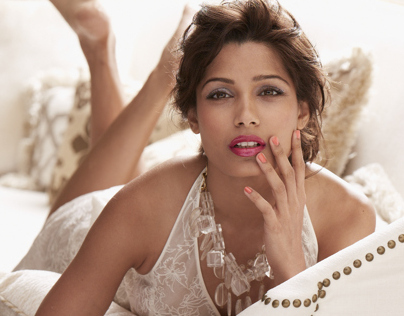 l'oreal - freida pinto - the making