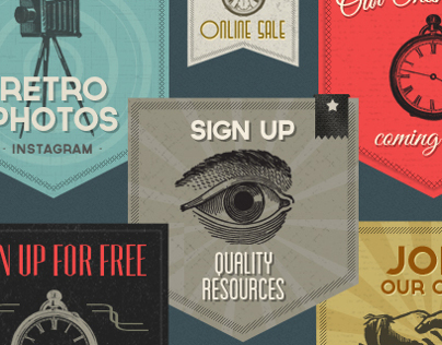 Retro Labels & Badges - Vintage Victorian