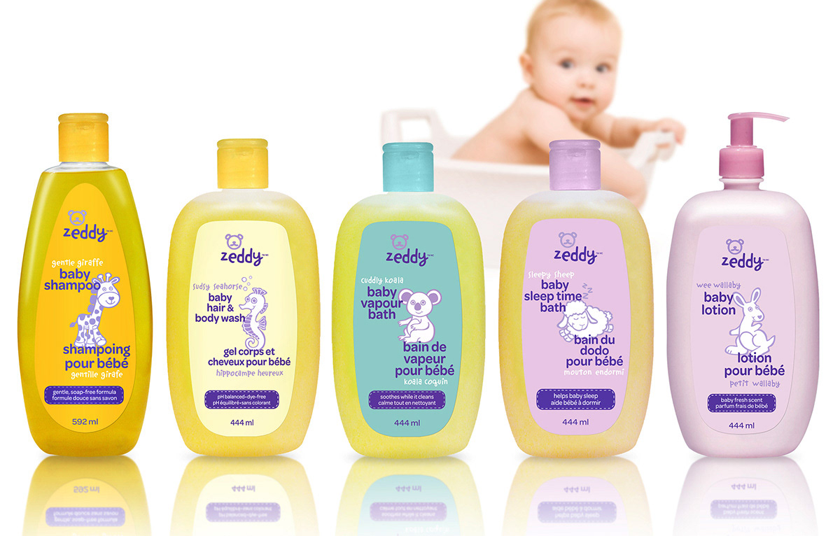Zeddy Baby Care Packaging Creative and Production