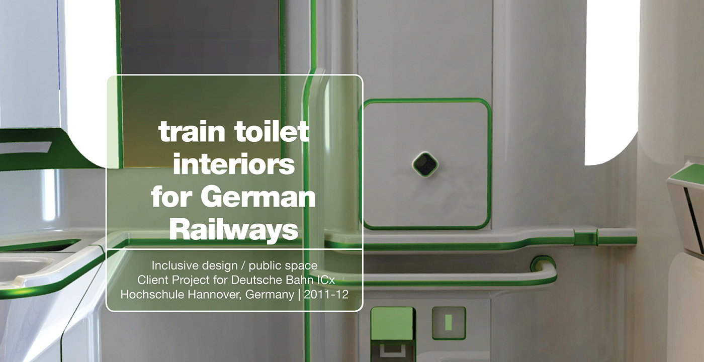 Train toilet interiors for Deutsche Bahn