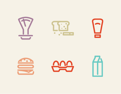 Grocery Icon Set