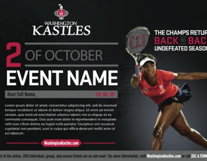 Washington Kastles Pro Tennis Branding