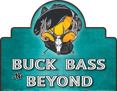 Buck Bass N Beyond Sticker & Newspaper Ad