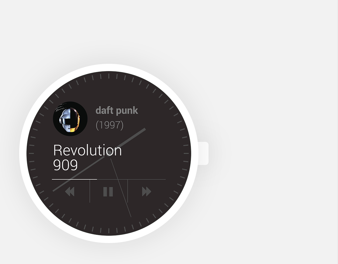 android wear concept watch app