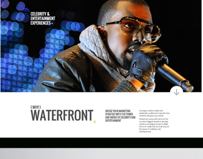 Waterfront Entertainment Marketing Website