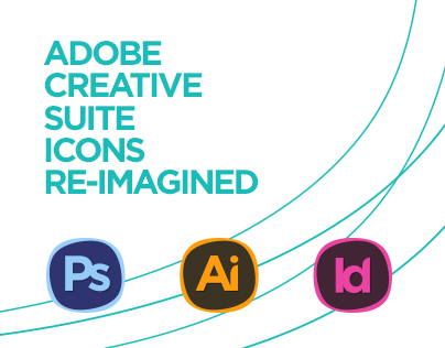 Adobe Creative Suite Icons Re-Imagined