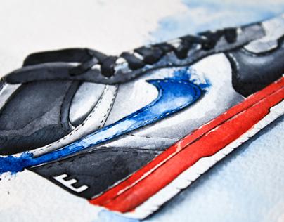 Nike dunk watercolor