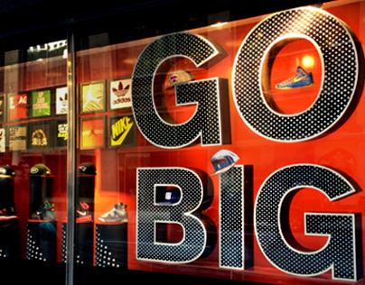 KIDS FOOT LOCKER / NBA / GO BIG WINDOW