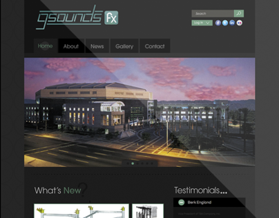 GSoundsFX - Website Design & Development