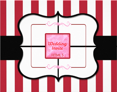 One page Wedding or Event Invite HTML5/CSS3 Template