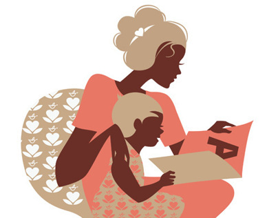 Beautiful mother silhouette with your child