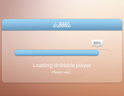 Dribbble Debut - Loading dribbble player