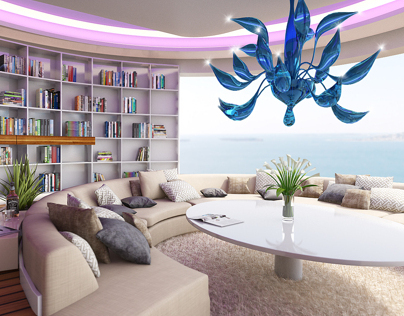 Cannes Villa - interior visualization