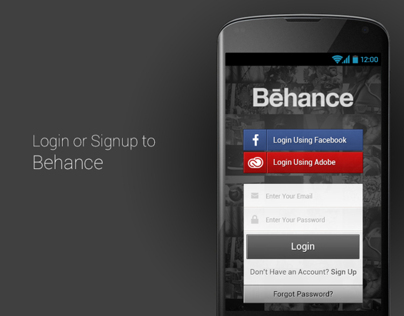 Behance Android App Design Concept