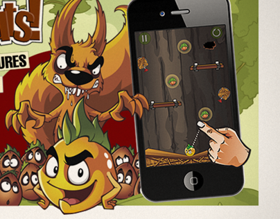 Graphics for the iOS game All For Nuts