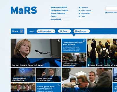 MaRS Inovation Centre Web Portal (2009)