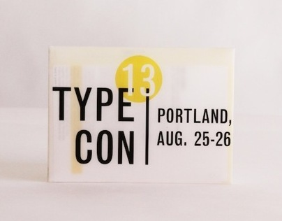 Type3 // TypeCon redesign-Portland Oregon, infographic