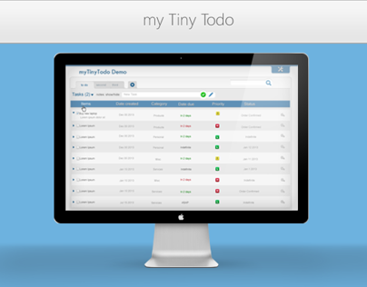 Tiny Todo UI Design Project