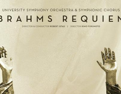Brahms Requiem Music Event Poster