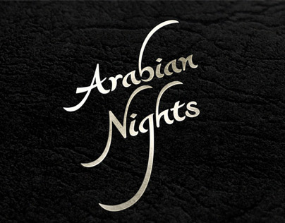 Traditional book design: 1001 Arabian nights