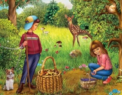 Children book LOGIC with opening windows