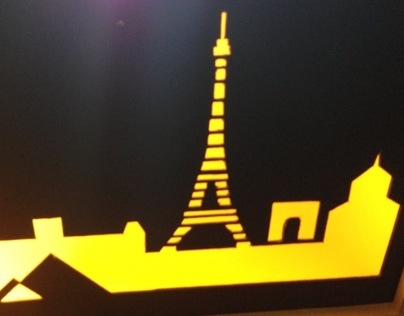 Paris Skyline Lamp