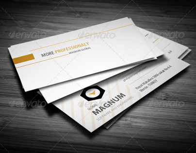 Orange Line Business Card